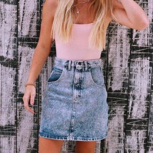 Wrangler High-Waisted Jean Skirt